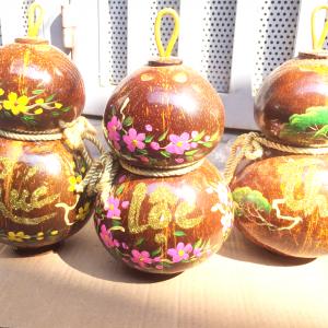 Rượu dừa hồ lô sành Rusa
