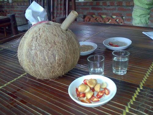 cách nấu rượu dừa 1